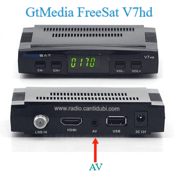 Salida Av freesat v7hd