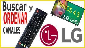 Sintonizar y ordenar canales en LG 2020